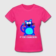 Fuck Cancer T-Shirt Funny Chemo Awareness Cat  - Women's T-Shirt