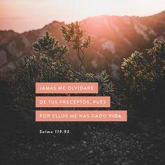 Nunca jamás me olvidaré de tus mandamientos, Porque con ellos me has vivificado.