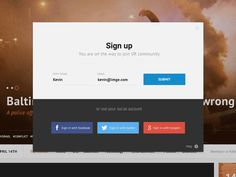 Hey,  this is a small sign up process in action preview for the website I am currently working on. The functionality may seem a bit strange for you, but it makes sense, you will see later :p  Press...