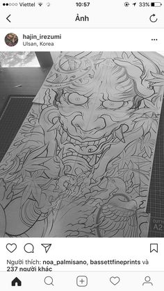 Hannya Mask Tattoo, Samurai Artwork, Asian Art, Tattoo Drawings, Sleeve Tattoos, Oriental, Japan, Skulls, Tattoo Ideas