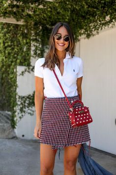 How to Style a Classic White Polo Shirt - Girls Polo Shirt - Ideas of Girls Polo Shirt - ralph lauren white polo shirt White Polo Shirt Outfit Women, Polo Outfits For Women, Polo Shirt Outfit Women's, Polo Shirt Style, Polo Shirt Girl, Polo Shirt Women, Preppy Outfits, Clothes For Women, Polo Shirts
