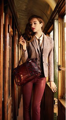 Ted Baker AW13 collection - I couldn't wear the tie, but I like the look of the blazer, pants and purse.