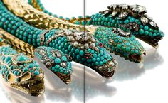 Five turquoise and diamond necklaces, mid-19th century. Estimated: $150,000 - $200,000. Formerly the Property of Maria Felix.