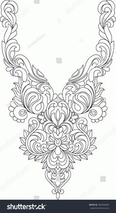 Immagine vettoriale stock 383594809 a tema Hungarian Folk Art (royalty free) Tambour Beading, Tambour Embroidery, Border Embroidery, Hungarian Embroidery, Embroidery Motifs, Embroidery Fashion, Lace Applique, Indian Embroidery Designs, Hand Embroidery Design Patterns