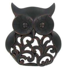 Black & Bronze Owl Wall Decor