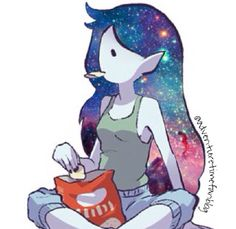 Marceline ~ i love this pic, but Marcie can't even eat chips, they are not red...