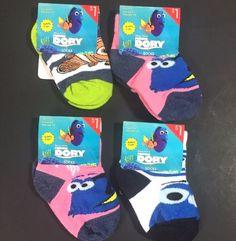 Disney Finding Dory Baby Socks Lot 4 Pair Sock Size 4-5.5 Shoe size 1-5 Pixar #DisneyPixar #AnkleSocks