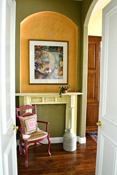 The Homeless Finch: My Chippy Vintage Mantel Makes The Move To a More Colorful Locale