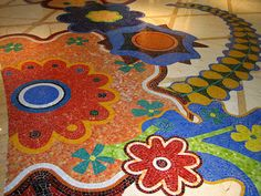 Mosaic floors, The Wynn, Las Vegas.  I have seen these - they are beyond beautiful