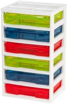 IRIS 6 Drawer Activity Storage Unit with Organizer Top