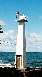 Coconut Point Light, Big Island, Hawaii Standing in Hilo, Hawaii it was established and built in 1915.