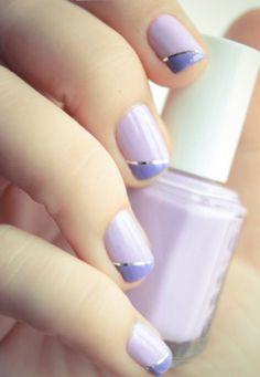 Nail art lilla e color lavanda primavera estate 2013