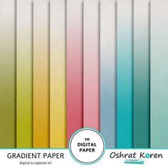 Gradient Papiersatz digitale Sammelalbum von Oshratkorendesigns