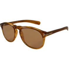 Tom Ford Brown Flynn Sunglasses ($120) ❤ liked on Polyvore featuring accessories, eyewear, sunglasses, uv protection sunglasses, acetate glasses, uv protection glasses, vintage style sunglasses and brown glasses