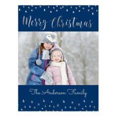 Christmas Snowflakes Custom Wine Label - Holiday Card Diy