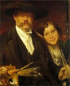 Lovis Corinth (1858 -1925) | Naturalism, Realism | Self-Portrait - 1888