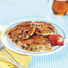 Multigrain Chocolate Chip Pancakes  | MyRecipes.com