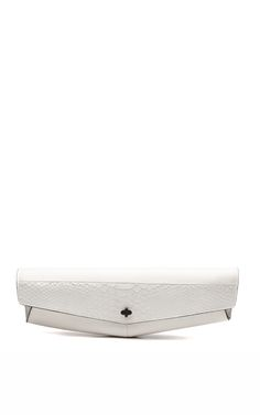 French leather and python baguette clutch by Narciso Rodriguez