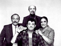 """The cast of """"A.K.A. Pablo"""". Paul Rodriguez Joe Santos Katy Jurado Héctor Elizondo Mario LopezAlma"""