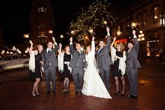 Fun with sparklers! A New Year's Eve Wedding in Gastown | Photo by http://bakephotography.com