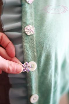 Oh You Crafty Gal: Embellish Your Old Sweaters and Cardigans