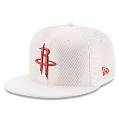 12b1c49a43e Men s Houston Rockets New Era White 2017 Official On-Court Collection  59FIFTY Fitted Hat Nba