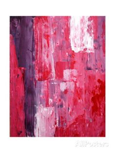   Pink And Purple Abstract Art Painting Art Print