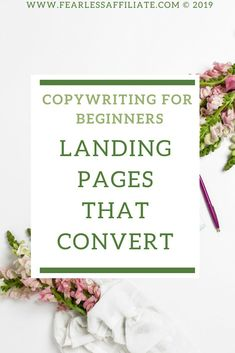 Learn copywriting for landing pages that draws your readers in and causes them to take action and click your links! Landing Pages That Convert, Make Money Blogging, Make Money Online, How To Make Money, Money Tips, Content Marketing Strategy, Email Marketing, Digital Marketing