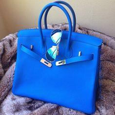 Royal blue Birkin bag