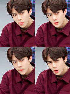 His expressions are killin. Exo Kai, Exo Chanyeol, Sehun Cute, Exo Lockscreen, Exo Ot12, Kpop Exo, Exo Members, Yoona, K Idols