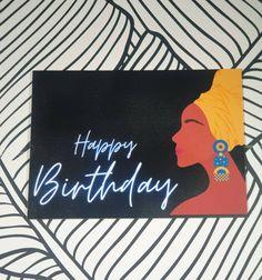 Happy Birthday Black, Black Sisters, Star Cards, Cool Artwork, White Envelopes, Presentation, Greeting Cards, Daughter