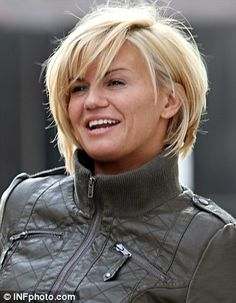 Kerry Katona's grown-up new look: Daring star slashes off her long hair | Mail Online