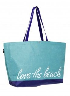 LOVE THE BEACH - Large Tote  This bag has plenty of space for beach day with the whole family.  #HaydenReis