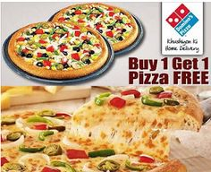 Buy 1 Pizza Get 1 Pizza Free Friday at Dominos