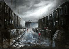 Bob Barker is a UK based artist, born and bred in Yorkshire. It's taken Bob Barker twenty years for his long time love of painting to evolve from a hobby to the point where interest in his work has taken on worldwide awareness. Yorkshire, Oil Paint Set, Beauty Illustration, Urban Life, Brickwork, Watercolor Art, Contemporary Art, Nostalgia, Scenery