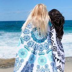 Boho Round Beach Towels available at the SurfGirl Beach Boutique - A Treasure Chest for Surf Girls