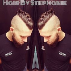 Viking Warrior Game on Point #barber #baldfade #vikinghair #manbun…