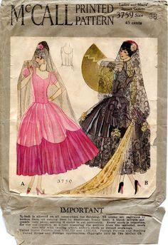 588f3e38115b McCall's Fancy Dress 1920's Drag Clothing, Spanish Costume, Vintage Dress  Patterns, Clothing Patterns