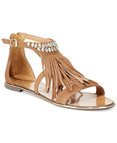 4b36be4976e1b0 Report Signature Calin Fringe Sandals - Sandals - Shoes - Macy s Walk In My  Shoes