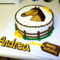 Horse Cake-Cute, simple. Could be done