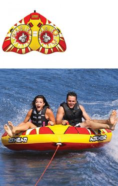 Tubing and Towables 71169: Airhead Turbo Blast Inflatable Water Tube 2 Rider Boat Tow Towable Ahtb-12 -> BUY IT NOW ONLY: $119.95 on eBay!