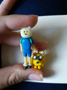 Finn and jake polymer clay