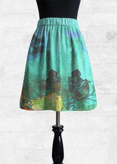 Exclusive Sale Online Clearance Store Sale Online Cupro Skirt - Cobalt Splash Skirt by VIDA VIDA vknj0CC