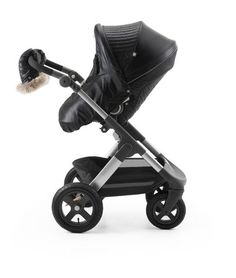 Stokke® Trailz™ and Stokke® Stroller Seat with Winter Kit Onyx Black.