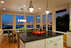lovely view of seattle (I would change the lamps)