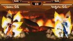 DragonBall Z Retro Battle X2 - Preview Gameplay SSJ Goku Vs SSJ Vegeta