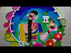 Very Easy Rangoli Designs, Rangoli Designs Latest, Rangoli Designs Flower, Free Hand Rangoli Design, Small Rangoli Design, Rangoli Ideas, Colorful Rangoli Designs, Rangoli Designs Diwali, Diwali Rangoli