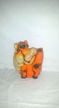 Vintage Neon Cow Bank, Made In Japan,1973, Neon Childrens Banks,  Retro Bright Colored Piggy Banks, Kitsch, Vintage, Wales, Cow Bank by JunkYardBlonde on Etsy