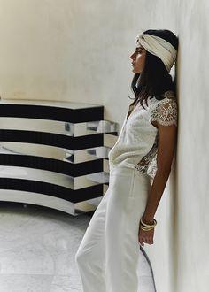 Sposa in pantaloni, Abito di Laure de Sagazan