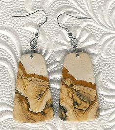 Earrings  African Queen Picture Jasper Sterling by ChicStatements